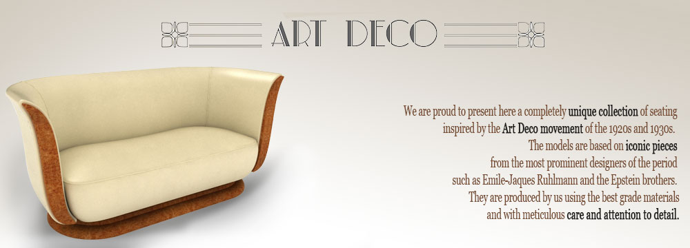 Art Deco Sofas Newman Amp Bright