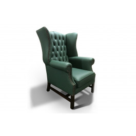 Duke Leather Wing Chair
