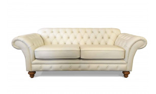 Armitage 3 Seater in Vele Old English White, with Light Oak Vegas feet