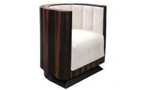 The Cocoa in Macassar Ebony with Cream Fabric