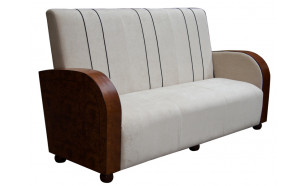 The Orleans in Walnut and Walnut Burr with Cream Fabric