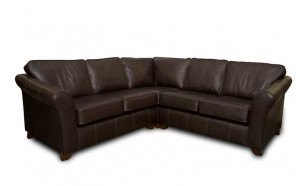 Astor Corner Sofa 2x2 in Sauvage Chocolate