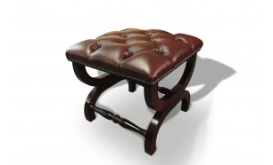 Baron Footstool in Antique Brown