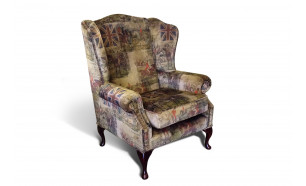 Blenheim Flat Wing Chair in Hunting Vintage