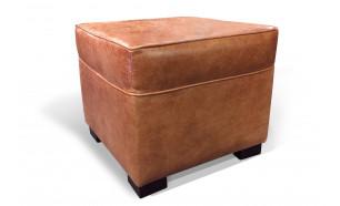 Box Pouffe in Old English Saddle