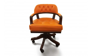 Court Swivel with Padded Seat in S Mandarin