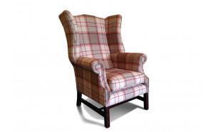 Duke Chair in Bainbridge Red Fabric