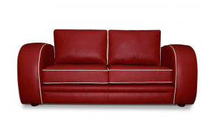Gatsby 2.5 Seater in Vele China Red with Vele Old English White Piping