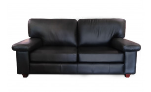 Milano 3 Seater in Vele Black