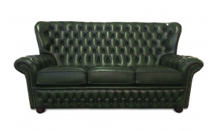 Monks 3 Seater in Antique Green