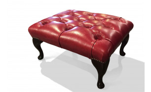 Queen Anne Stool in OE Gamay