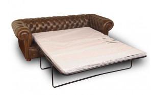 Buckingham Tudor 3str Sofa Bed in Antique Brown