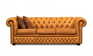 Buckingham Tudor 3 Seater in OE Buckskin