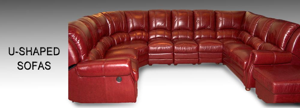 U Shaped Sofa Manchester | U Shaped Leather Corner Sofas - Newman ...